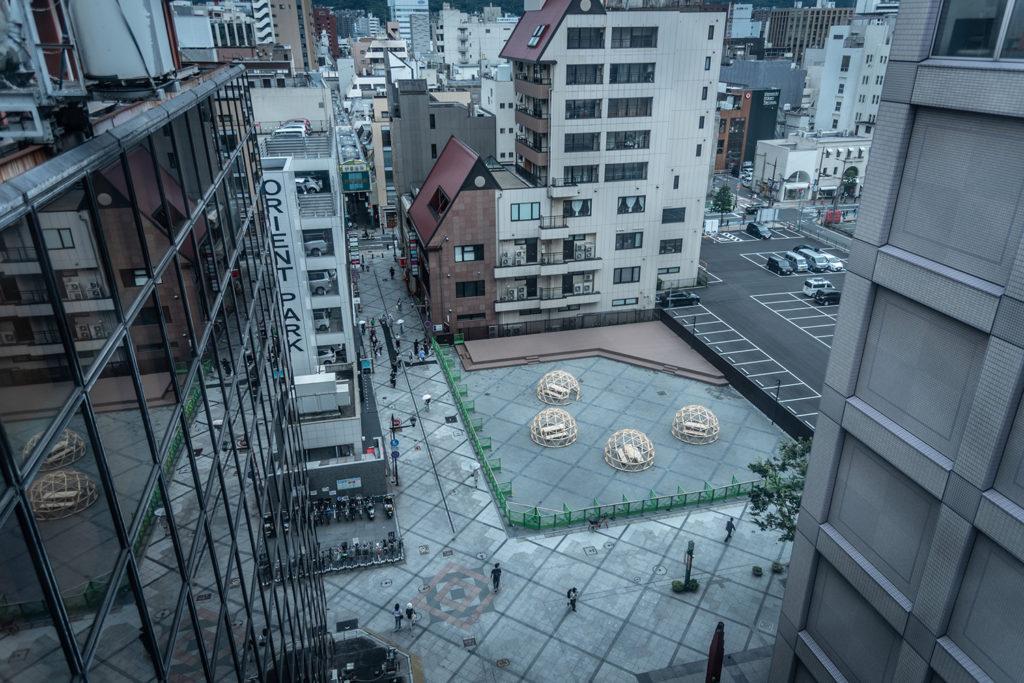 北九州市小倉「船場広場」のジオデシック・ドーム